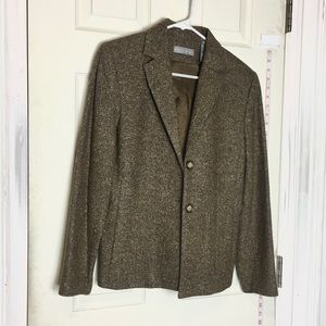 Kate Hill wool silk blended blazer 8 womens brown